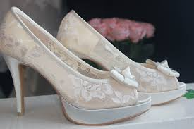 wedding shoes kuala lumpur 4 inches peep toe with front bow see through lace bridal shoes