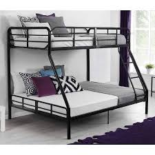 Metal Bunk Bed Twin Over Full Bunkbeds Teens Kids Dorm Ladder - Metal bunk bed ladder