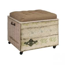 Antique Ottoman Crate Vintage Inspired Crate Ottoman