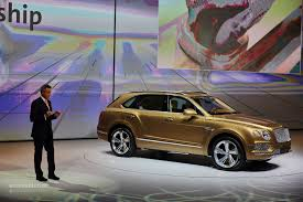 bentley bentayga 2016 2016 bentley bentayga makes world debut in gold at frankfurt
