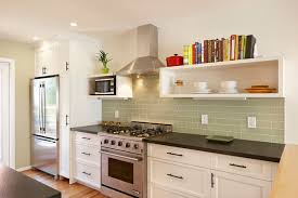 green tile backsplash kitchen sea foam green tile backsplash houzz