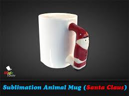 11oz sublimation animal mug santa claus magic transfer