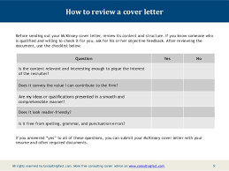 Letter For Sending Resume For Job by Mckinsey Cover Letter Sample