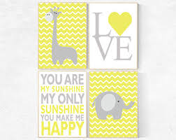Yellow Gray Nursery Decor Yellow Gray Nursery Etsy