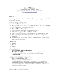 Maintenance Foreman Resume Resume Example 38 Electrician Resume Objective Electrician Job