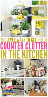 15 clever ways to get rid of kitchen counter clutter glue sticks