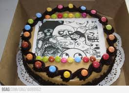 Meme Cake - internet meme and rage comics cakes and cupcakes cakes and