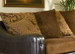 Chenille Sectional Sofas by Sectional Sofa 503001 Chocolate Chenille Dark Brown Vinyl Base