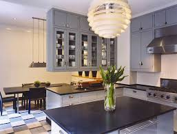 White Blue Kitchen White Cabinets With Blue Countertops Blue Glass Front