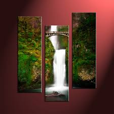 3 piece green scenery nature canvas photography