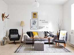 scandinavian livingroom cool small scandinavian living room with grey sofa and black chair