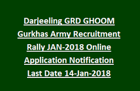 darjeeling grd ghoom gurkhas army recruitment rally jan 2018