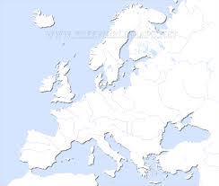 World Map Unlabeled Europe Physical Map Freeworldmaps Net With Of With Rivers