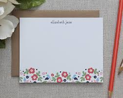 floral stationery etsy