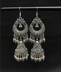thailand earrings miao silver jewelry silver earrings vintage tribal nepal thailand