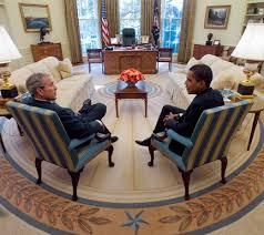bureau ovale maison blanche rfi bush obama premier tête à tête