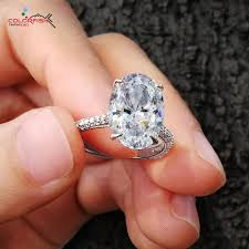 wedding rings luxury images Colorfish luxury 5 carat oval cut solitaire engagement ring 925 jpg