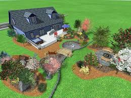 Landscaping Ideas For Backyard Privacy Large Backyard Deck Designs Large Backyard Design Ideas