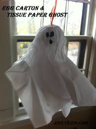 halloween craft make an egg carton and tissue paper ghost jinxy