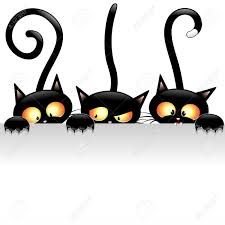 halloween clipart black background cartoon cats stock vector illustration and royalty free cartoon