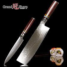 japanese kitchen knives 2 pcs kitchen knife set 67 layer japanese vg10 damascus steel