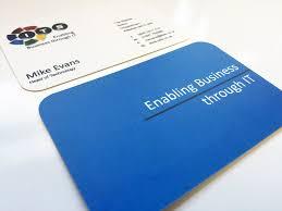 Matt Laminated Business Cards 400gsm Matt Laminated Shaped The Business Card Store Bristol