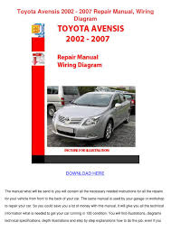 toyota avensis 2002 2007 repair manual wiring by elbertcormier issuu