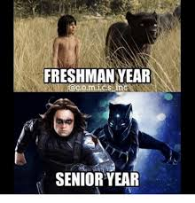 Senior Year Meme - freshman year senior year freshman year meme on me me