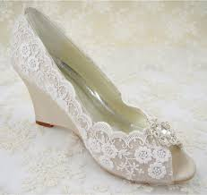 wedding shoes wedges wedding shoes peeptoe bridal shoes rhinestone wedge shoes