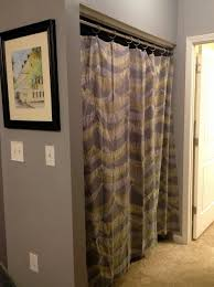 Shower Curtain For Closet Door Replacing Bifold Closet Doors With Sliding Replace