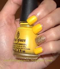 nail designs day 3 yellow nails