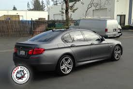 matte wrapped cars bmw 550i wrapped in 3m dark gray car wrap wrap bullys
