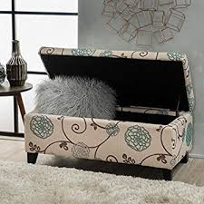 Floral Ottoman Breanna Floral Fabric Storage Ottoman By Christopher