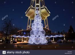washington holiday christmas tree sculpture at the base of the