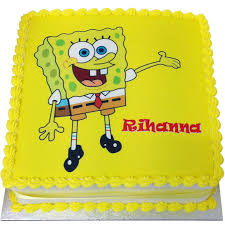 spongebob squarepants birthday cake flecks cakes
