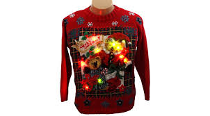 where to find ugly christmas sweaters tacky light up tops for
