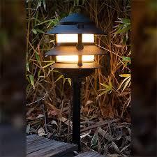 Pagoda Landscape Lights Led L2030 Bk F Ww Black Landscape Lighting Low Voltage Frosted
