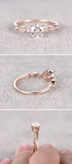 www pinterest com engagement rings awesome moissanite in rose gold engagement ring