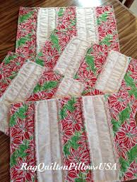 christmas quilted table placemats set of 4 holiday placemats