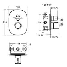 basento slim oval built in thermostatic bath shower mixer mixers basento slim oval built in thermostatic bath shower mixer mixers kits showers sottini