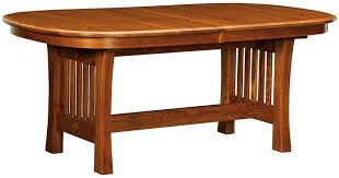 Arts And Crafts Dining Room Set Solid Wood Arts And Crafts Trestle Dining Table