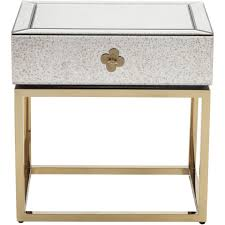 Bedside Tables Lien Bedside Table Clear Gold The One Furniture Dubai