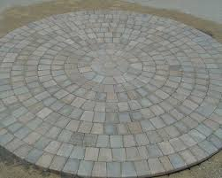 Circle Paver Patio Kits Hessit Pavers Knepp Sand