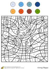 Coloriages coloriage magique cm1 sapin de noel  Joulupuuhatehtäviä