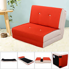 Orange Sofa Bed by Fold Down Chair Flip Out Lounger Convertible Sleeper Bed Couch