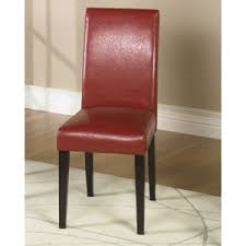 Leather Parsons Chairs Leather Parsons Chairs For Sale Including Parkside Coaster