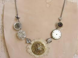vintage handmade jewelry with steampunk accents handmade jewlery