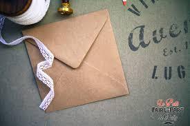 enveloppe faire part mariage enveloppes kraft gommé pour invitation mariage vintage