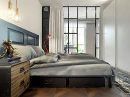 design de chambre à coucher intérieur design moderne pour un petit appartement à minsk