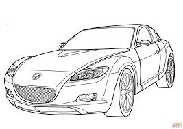 mazda car line mazda rx 8 coloring page free printable coloring pages